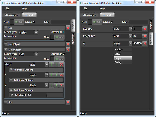 Cool Framework Definition Editor 0.9