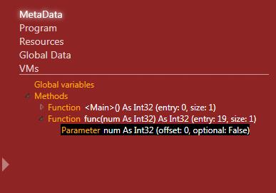 Debug info: metadata